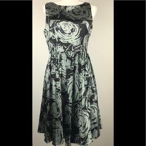 ECI NEW YORK Silk Rose Print Graduation Dress 8